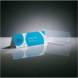 Tischaufsteller 240x90mm Dachform beidseitig 5St glasklar