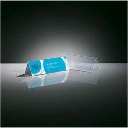 Tischaufsteller Dachform glasklar für 190x60mm, Hartplastik
