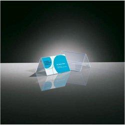 Tischaufsteller Dachform glasklar für 100x60mm, Hartplastik