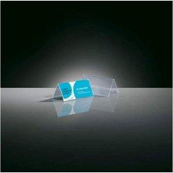 Tischaufsteller glasklar Plastik Dachform. Format 95x42mm