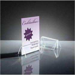 Kartenhalter 100x45mm Acryl mit Klemmfunktion 2St