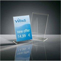 Preisaufsteller A7 10St glasklar