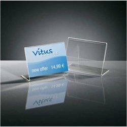 Preisaufsteller 90x60mm 10St glasklar