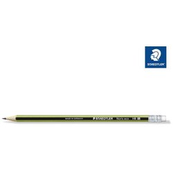 Bleistift Noris eco aus Wopex grün-schwarz gestreift Härtegrad HB mit Radiertip
