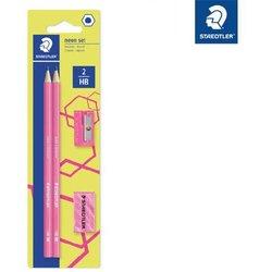Bleistift-Set Wopex Noris eco Härtegrad HB neon-pink auf Blisterkarte