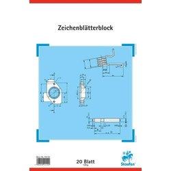 Technischer Zeichenblock Staufen 44120 120g A4 20Bl mit Rahmen und Schriftfeld