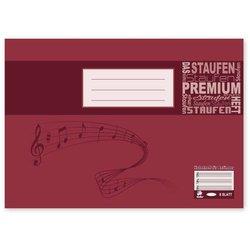 Notenheft Staufen 17514 Premium Academy 90g A5q 8Bl 4 Systeme ohne Hilfslinien