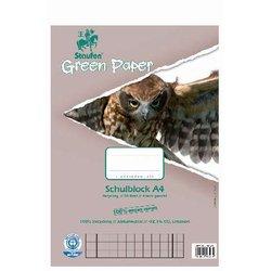 Schulblock Staufen 41528 GreenPaper 70g A4 50Bl #28 kariert mit Randlinien innen und außen