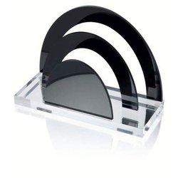 Briefständer Wedo 603001 Acryl Exclusiv 2 Fächer glasklar schwarz