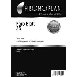 Chronoplan A5 Karo-Blatt 50Bl