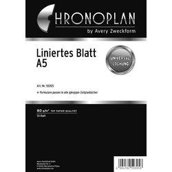 Chronoplan A5 Liniertes Blatt 50Bl