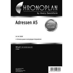 Chronoplan A5 Adressenregister 25Bl