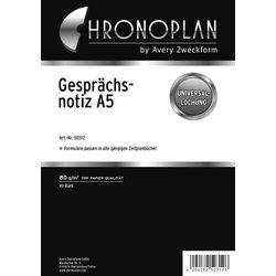 Chronoplan A5 Gesprächsnotiz 40Bl