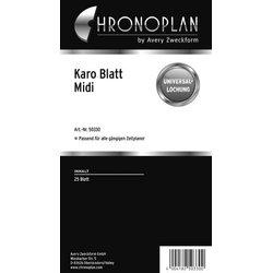 Chronoplan Midi Karo-Blatt 25Bl
