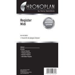 Chronoplan Midi Register 18-teilig