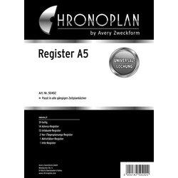 Chronoplan A5 Register 31-teilig bestehnd aus: Vor-,Tagesplanung, 12-tl.